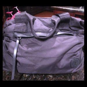 French Connection Black Nylon satchel